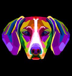 colorful vizsla dog on pop art style vector image