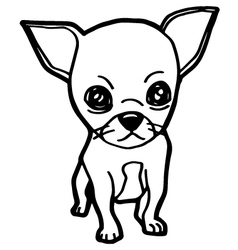 dogs coloring page vector image