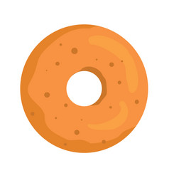 Donut colorful bakery product icon vector
