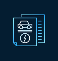 electric car documents creative outline vector image