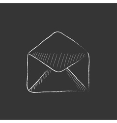 Envelope Drawn in chalk icon vector