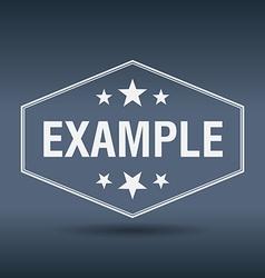 Example hexagonal white vintage retro style label vector