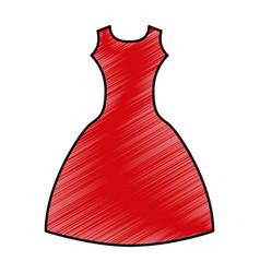 Femenine dress elegant icon vector