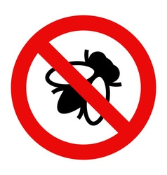 Fly warning sign vector