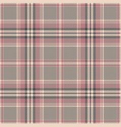 Glen check plaid pink pattern vector