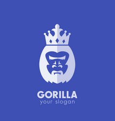 Gorilla king logo elements vector