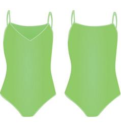 Green swimsuit vector
