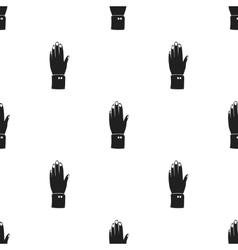 High five icon in black style isolated on white vector