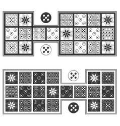 Image with royal game ur board game vector