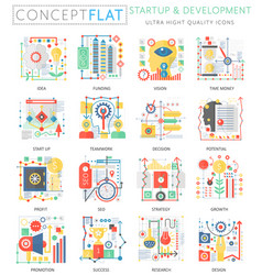 Infographics mini concept startup and development vector