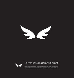 isolated angel icon insignia element can vector image