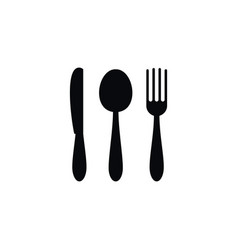 isolated silverware icon stainless element vector image