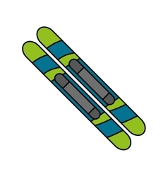 Isolated skiis of winter sport design vector