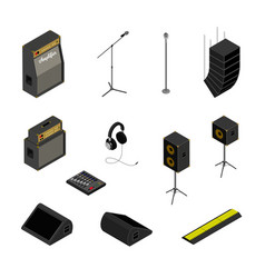 isometric music equipment vector image