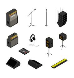 Isometric music equipment vector