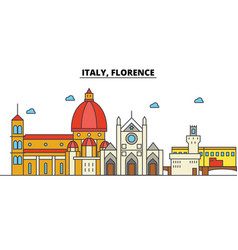 italy florence city skyline architecture vector image