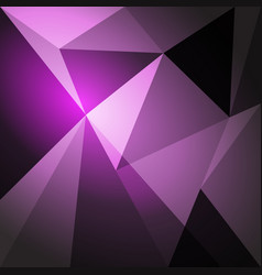 Low poly design element on purple gradient vector