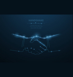 man handshake abstract polygonal vector image