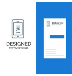 mobile mail id phone grey logo design and vector image