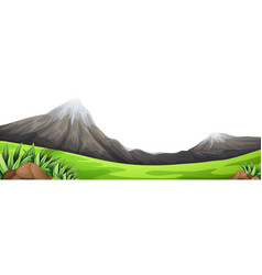 Moutain green foreground scene vector