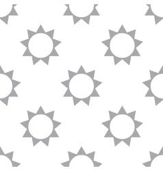 New Sun seamless pattern vector