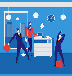 Office workers concept in flat vector