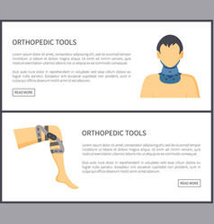 orthopedic tools web pages vector image