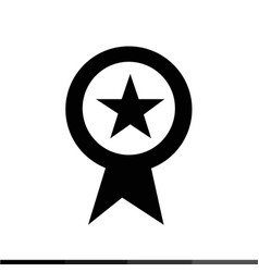 page rank badge star icon design vector image