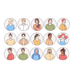 People different races and nationalities vector