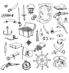 pirates set vector image