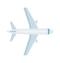Plane top view vector image