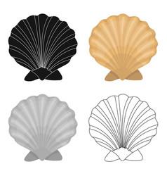 Prehistoric seashell icon in cartoon style vector