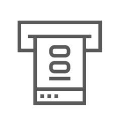 public navigation line icon atm vector image