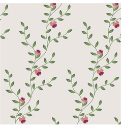 retro floral pattern with flowers vector image