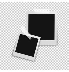 retro photo frames with shadows vector image