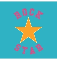 rock star typography t-shirt graphics vector image