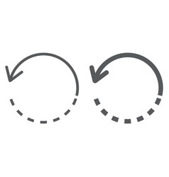 Rotate line and glyph icon tools and design vector
