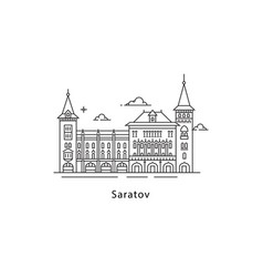 saratov logo isolated on white background saratov vector image