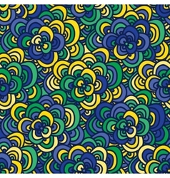 Seamless doodle pattern in the colors of the vector image
