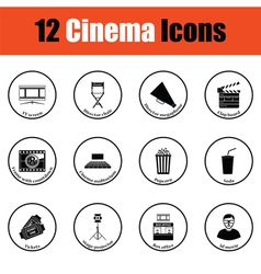 Set of cinema icons vector image