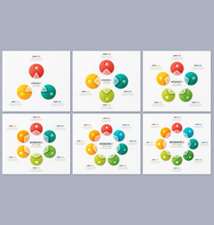 set of circle chart templates with 3 4 5 6 7 8 vector image