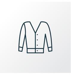 Short cardigan icon line symbol premium quality vector