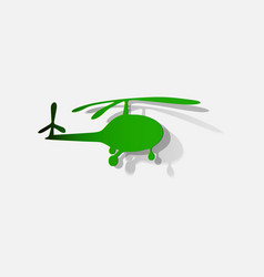 silhouette a helicopter on white background vector image