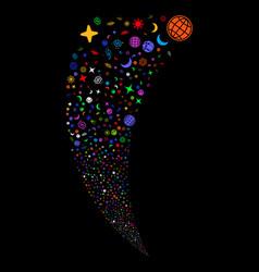 space symbols random stream vector image