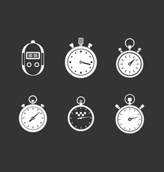 stopwatch icon set grey vector image