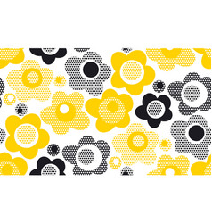 tender gray and yellow floral seamless pattern vector image