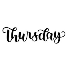thursday handwriting font calligraphy vector image