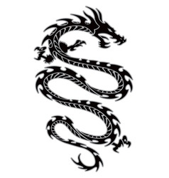 Tribal dragon tattoo vector