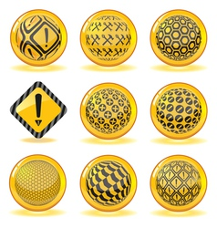 Under-construction spheres set vector image