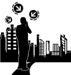 urban scene design background vector image